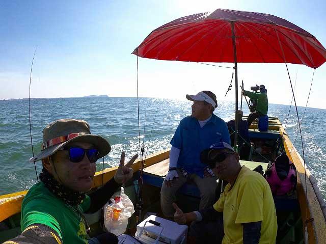 タイ王国 チヌ釣り 船