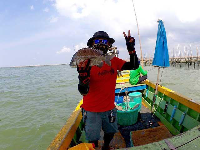 タイランド チヌ 釣る バンサイ